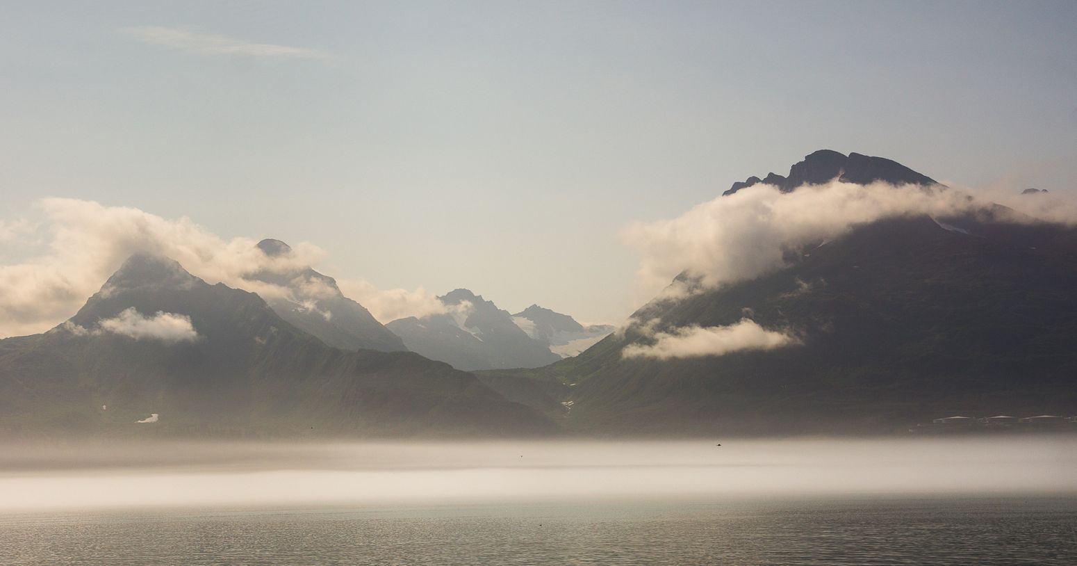 The mountains around Port Valdez, Alaska, USA