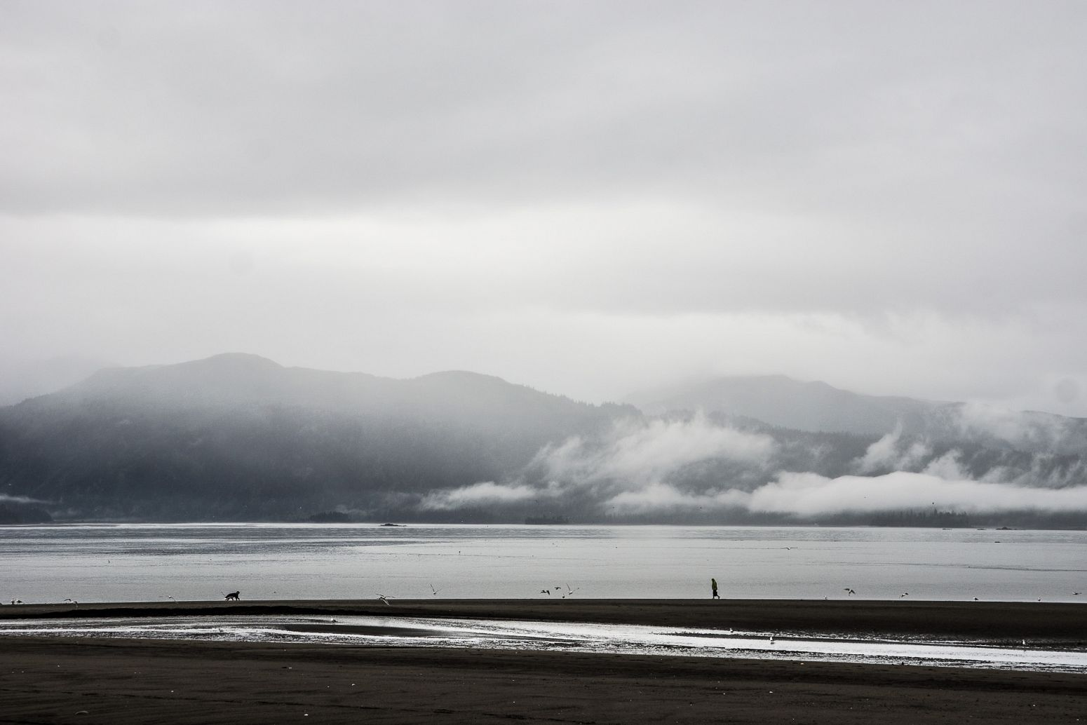 Cloudy weather in Homer, Alaska, USA