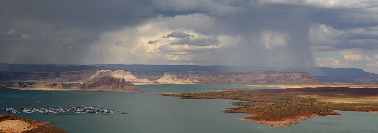 Storm over Lake Powell, Arizona, USA