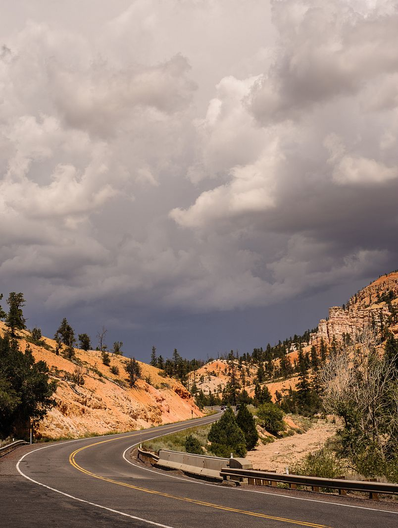 Road near Bryce Canyon NP, Utah, USA