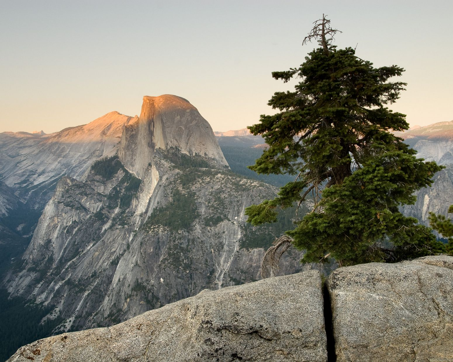 Half Dome at sunset, Yosemite NP, California, USA