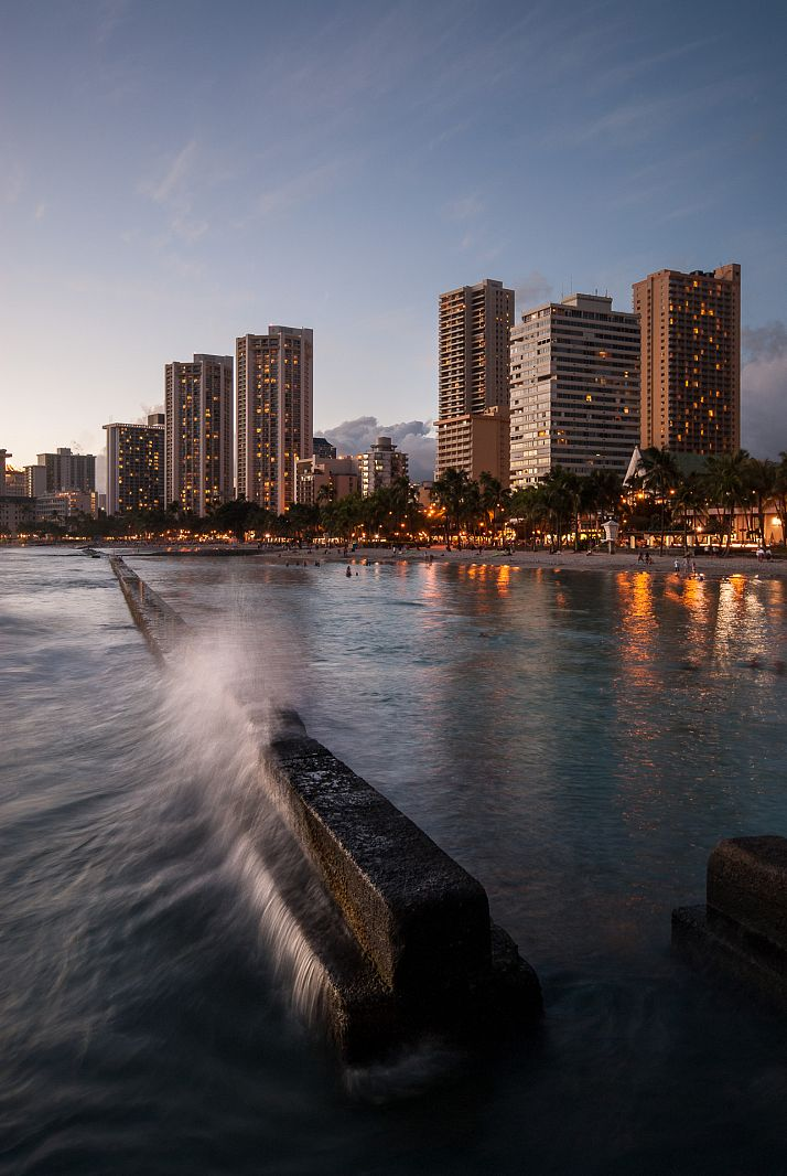 Kuhio Beach Park ,Honolulu, Hawaii, USA