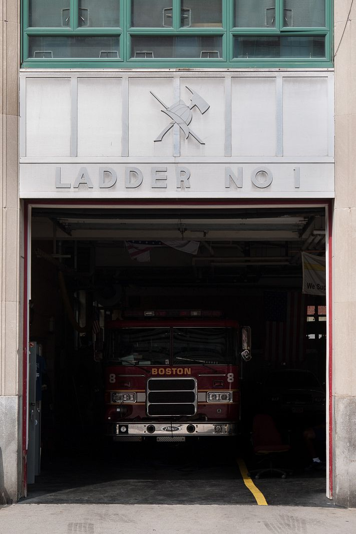 Fire station, Boston, Massachusetts, USA
