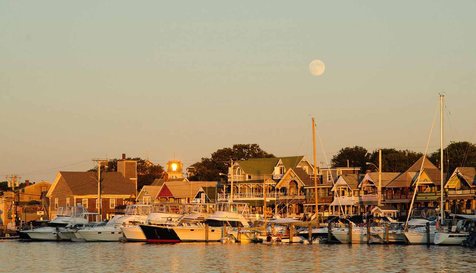 Oak Bluffs Harbor, Martha's Vineyard, Massachusetts, USA