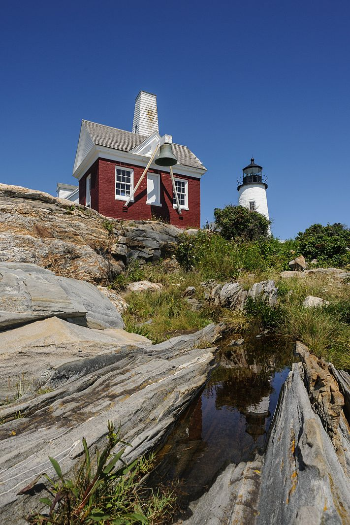 Pemaquid Point Lighthouse, Pemaquid, Maine, USA