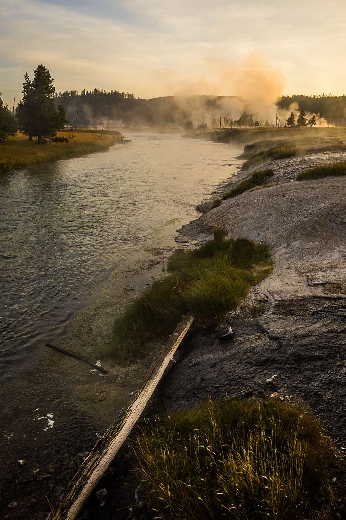 Firehole river, Yellowstone NP, Wyoming, USA