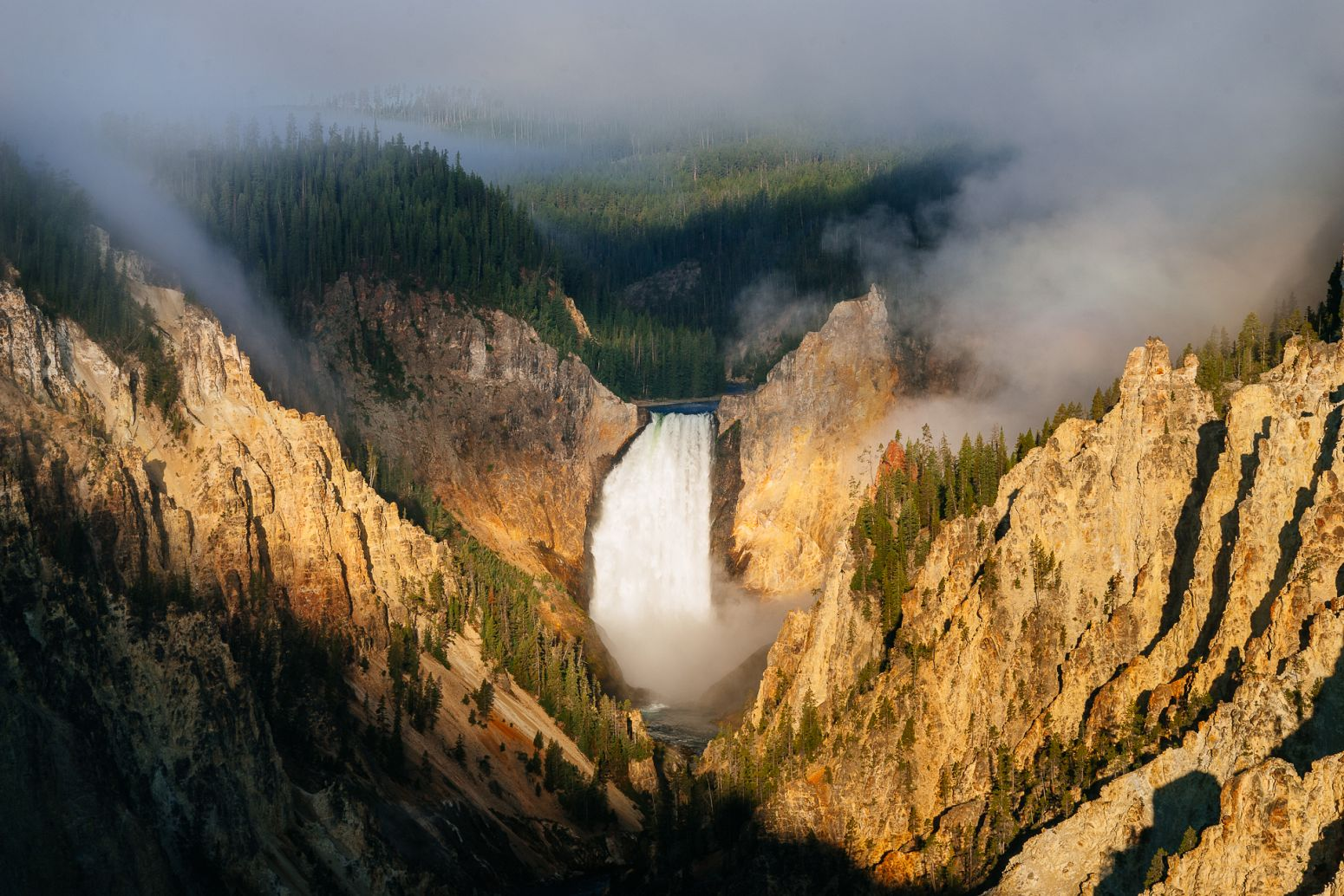 Grand Canyon of the Yellowstone, Yellowstone NP, Wyoming, USA