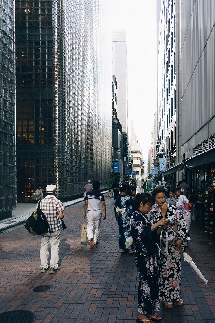 Sunday strolling in Ginza, Tokyo, Japan
