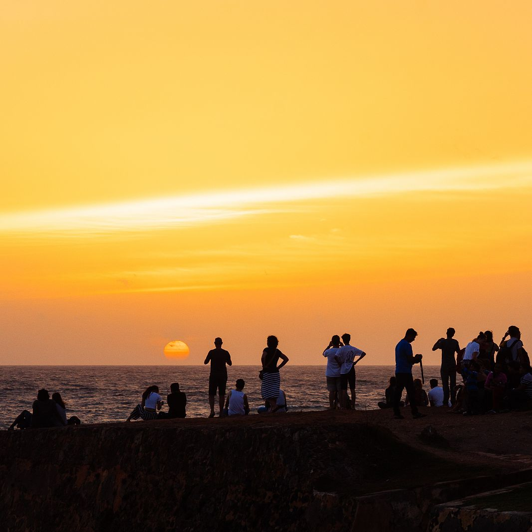 Sunset over Galle Fort, Sri Lanka