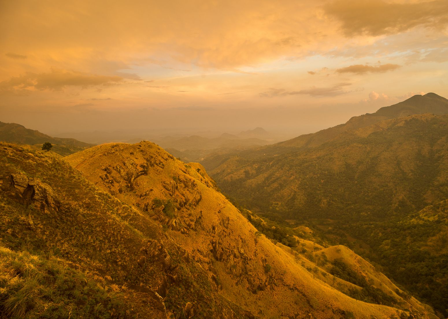 Sunset from Little Adam's Peak, Ella, Sri Lanka