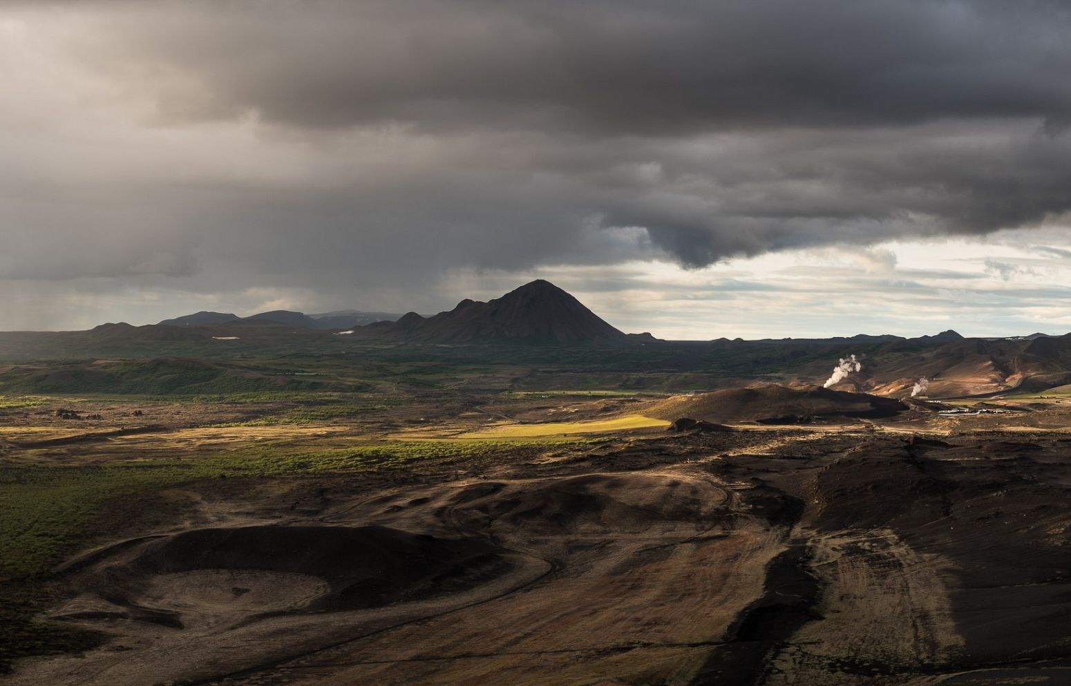 View from Hverfjall  volcano, Iceland