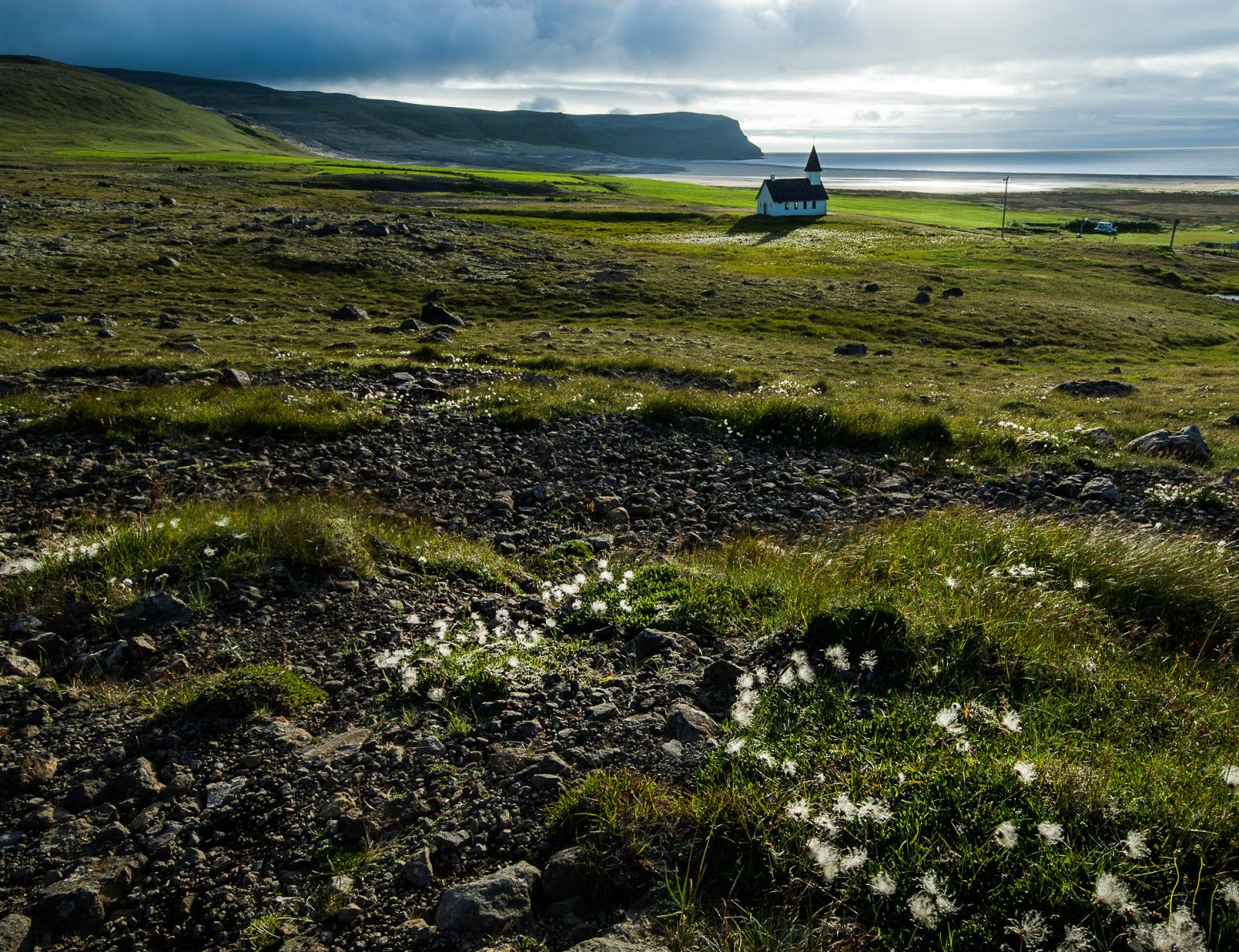 Small church in Brejdavik, Iceland