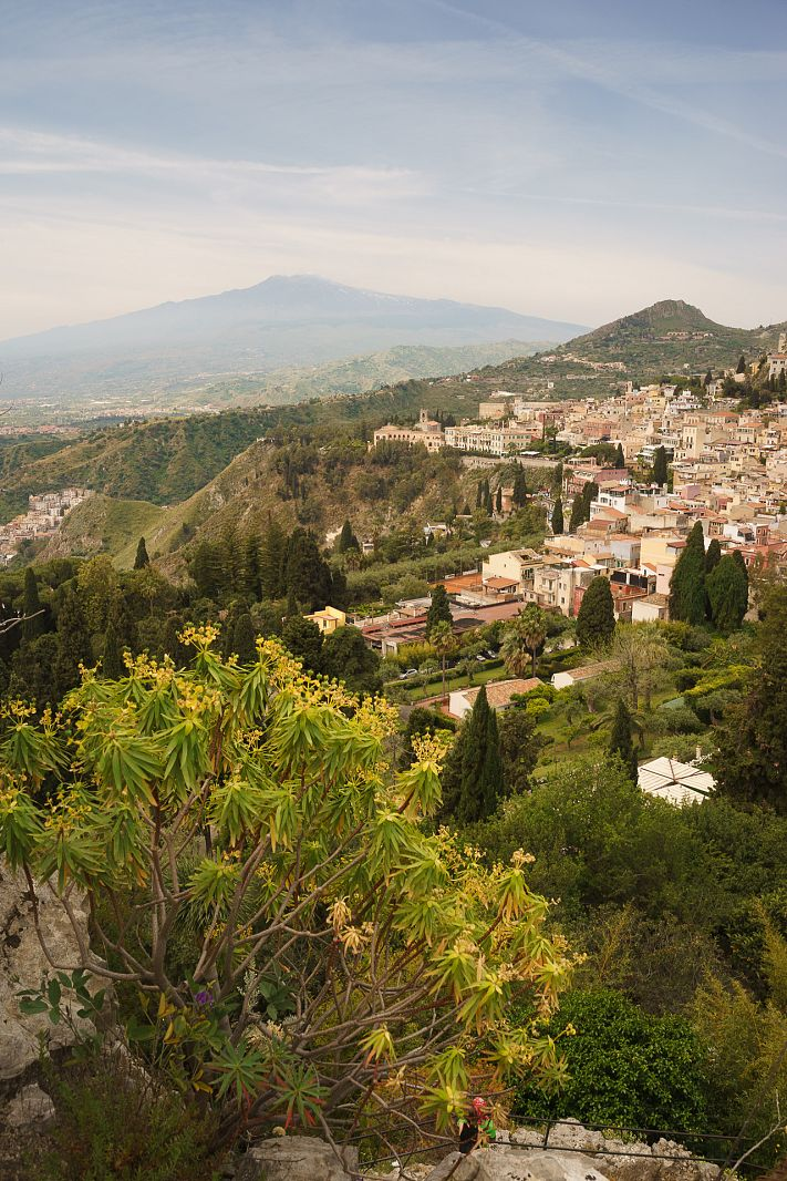 Etna and Taormina, Italy