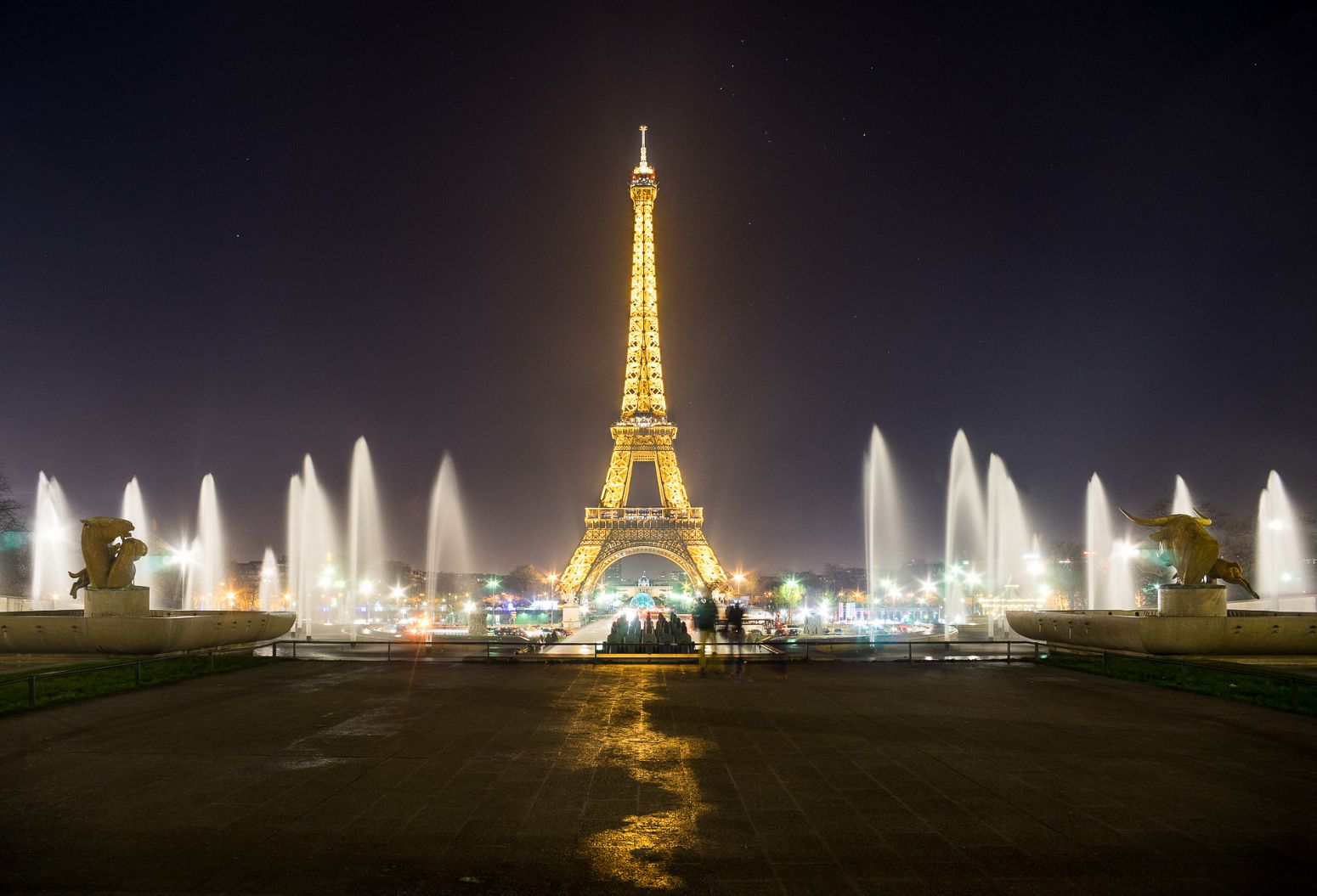 The Tour Eiffel from the Trocadero, Paris, France