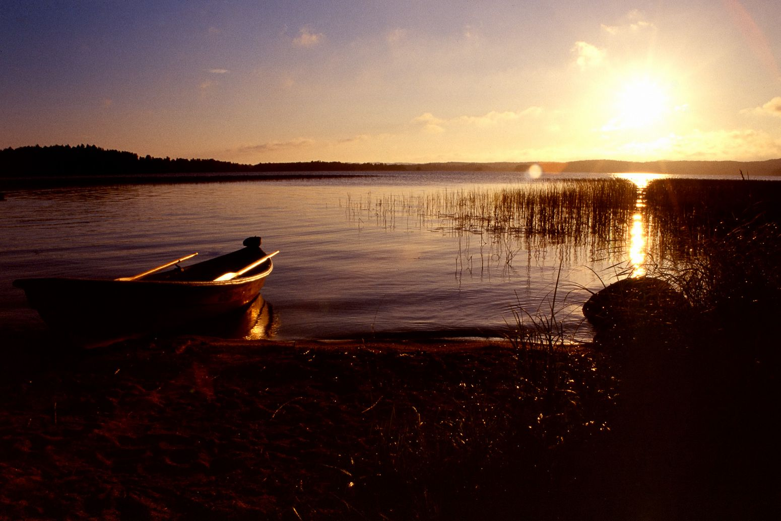 Sunrise by the lake, Orivesi, Finland