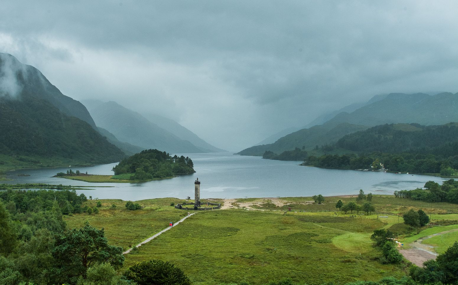 Loch Schiel and Glenfinnan Monument, Scotland